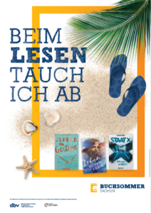 Plakat Buchsommer Sachsen